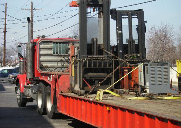 Truck Towing Forklifts